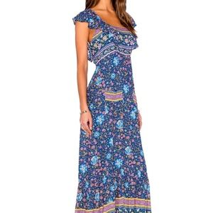 Monterey Festival Floral Fields Maxi Dress MED NWT